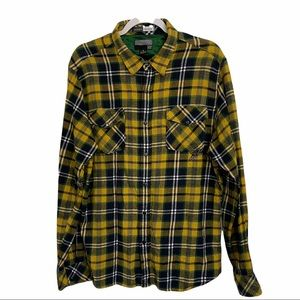 Billabong Snap Buttons Plaid Flannel Shirt Size XL